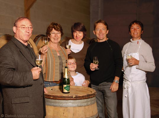 Jacques, Nadia, Guillaume, Isabelle, Arnaud et Laurence Diebolt