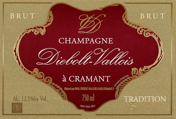 Label Champagne Diebolt-Vallois Tradition